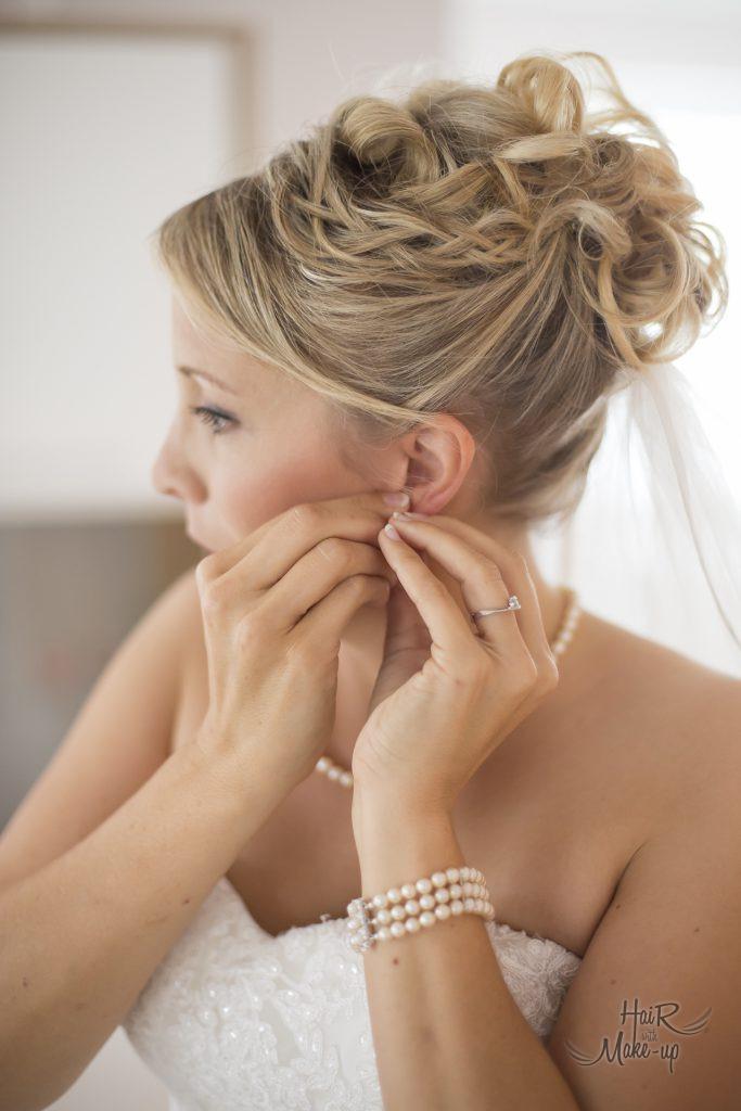 Brautfrisur, Makeup